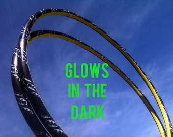 Batman GLOW in the DARK Mini Arm Hula Hoops - Poi Style two twins double workout