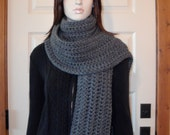 CHOOSE COLOR Extra Long Wide Chunky Scarf, Crochet Winter Scarf, Womens, See Color Options in Last Picture, MarlowsGiftCottage