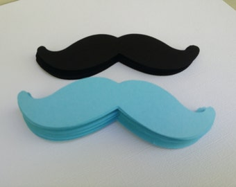 50 cardstock  mustache die cuts, little man party
