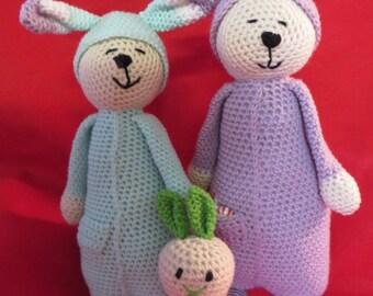 Crochet Amigurumi Rabbits     You pick