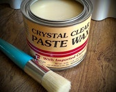 Furniture Wax, Painted Furnitue, Clear Wax, Wax Seal, Chalk Paint Wax, Chalk Paint, Shabby Chic, ReClaimed Wood, Wax Paint Brush, DIY Kit