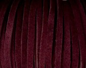 5MM Suede Lace Burgundy Clothing Jewelry Grade 2 Yds