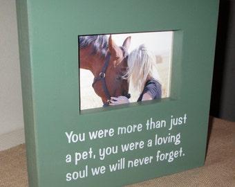 Pet Loss Pet A Pet Memory Pet Memorial Pet Picture Frame Sympathy Gift Painted Wood Photo Frame Pet Memory