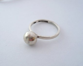 sterling silver ball ring 1,00