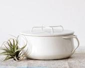 RESERVED for MICHAELA White Dansk Casserole - Kobenstyle Enamel Pot by Jens Quistgaard
