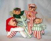 4 Pixie Knee Hugger shelf Elves holiday decor