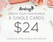 Custom cards bundle - 6 cards - Special templates promo