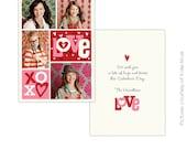 INSTANT DOWNLOAD -  Valentine Card Photoshop Template - Crazy Love- E297