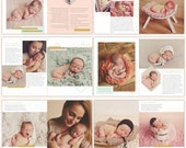 Newborn Photography Digital Magazine • Welcome baby - INSTANT DOWNLOAD