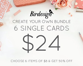 Custom cards bundle - 6 cards - Special templates promo