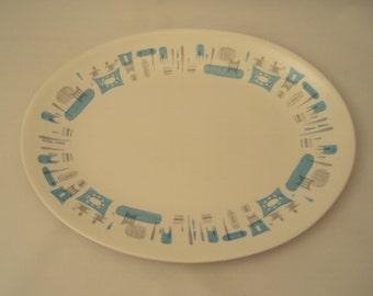 Vintage Royal China USA Blue Heaven Oval Serving Platter