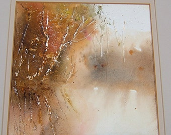 Vintage Fall Painting Vintage Autum Painting Vintage Art Vintage Watercolor Painting Vintage Landscape Painting Vintage Abstract Painting