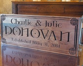 Celtic Sign, Family Name Sign, Established Sign, Irish Name Sign, Benchmark Custom Signs Walnut CN
