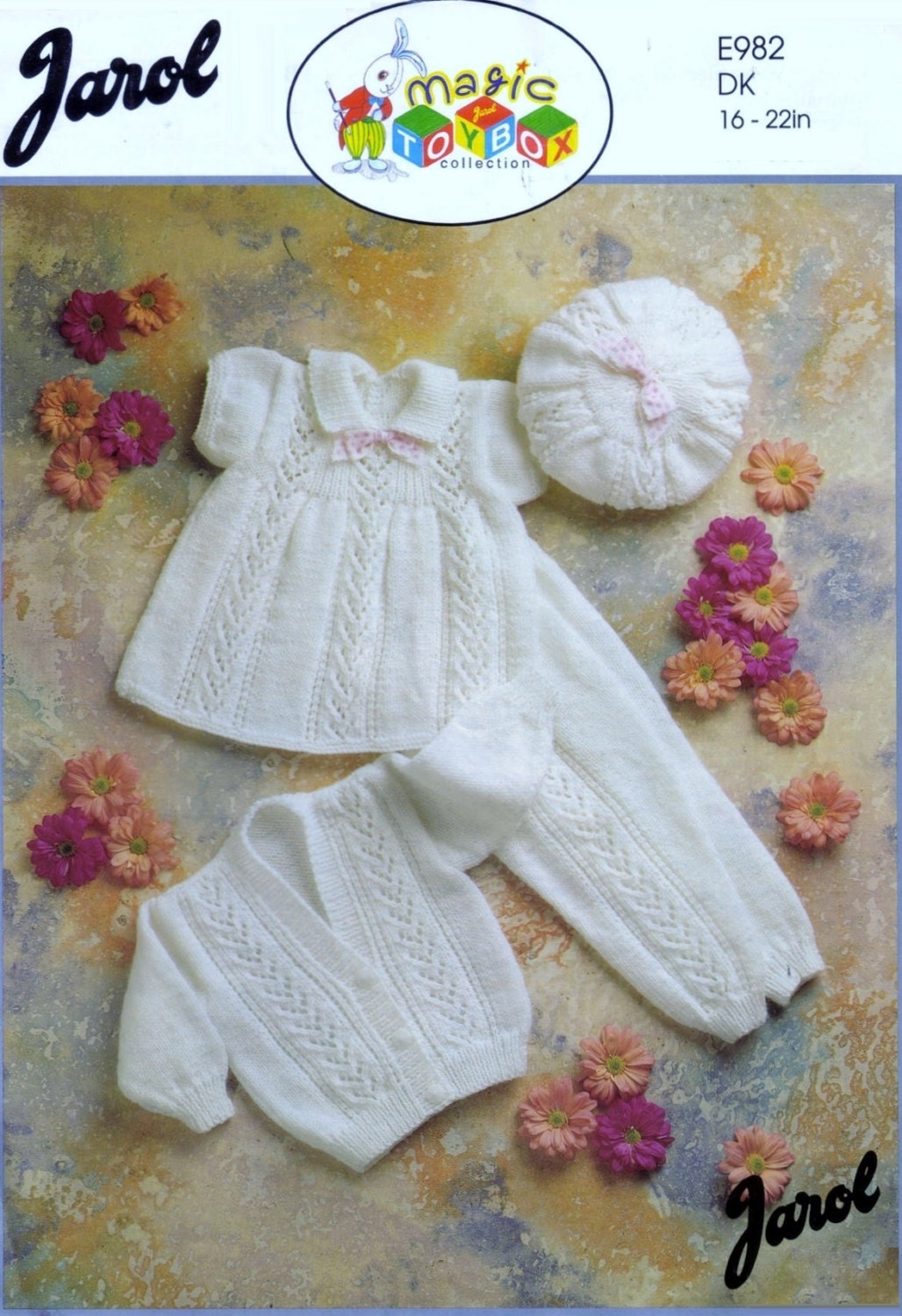 Baby Dk 8ply Light Worsted Dress Leggings Cardigan And Hat