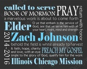 Custom Personalized LDS Missionary Gift Poster Printable Digital Subway Art 11x14