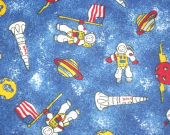 Popular items for space rocket ship on etsy for Space flannel fabric