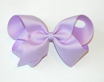 Lavender Large Hair Bow