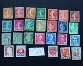 25 Vintage Stamps from France (lot 37)