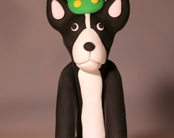 Boston Terrier Dog Birthday Cake Topper