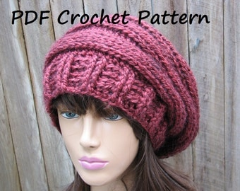 CROCHET PATTERN - Chunky Hat, Crochet Pattern PDF,Easy, Great for Beginners,  Pattern No. 66
