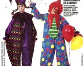 McCalls Pattern 6719 Sz 34-36 Adult HALLOWEEN Clown CostumeNew Uncut Factory Folded Pattern