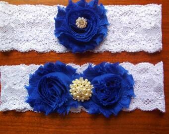 Royal Blue Garter/ Wedding garter / Blue garter / Lace garter /  Garter / Something Blue