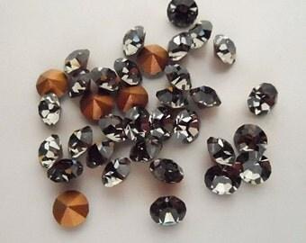 36 Black Diamond 20ss Swarovski Rhinestones-Loose Rhinestones-Bulk Rhinestones-Wholesale Rhinestones-Loose Crystals