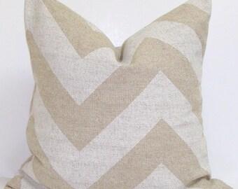 NEUTRAL PILLOW CHEVRONi.26X26 inch.Decorative Pillow Covers.Housewares.Home Decor.Tan.Oatmeal.Neutral.Pillow Cover.Cushion.ZigZag.Sham.Euro