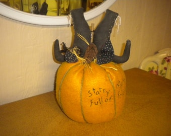 Fall Primitive Handmade Pumpkin, Primitive, Country, Holiday, Fall Decor