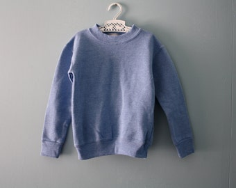 Vintage ringer sweatshirt / slate blue sweatshirt / made in the USA / toddler size 18 to 24 Months , 2T to 3T / Two available