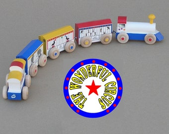 Circus Train - Wooden Toy Train Set