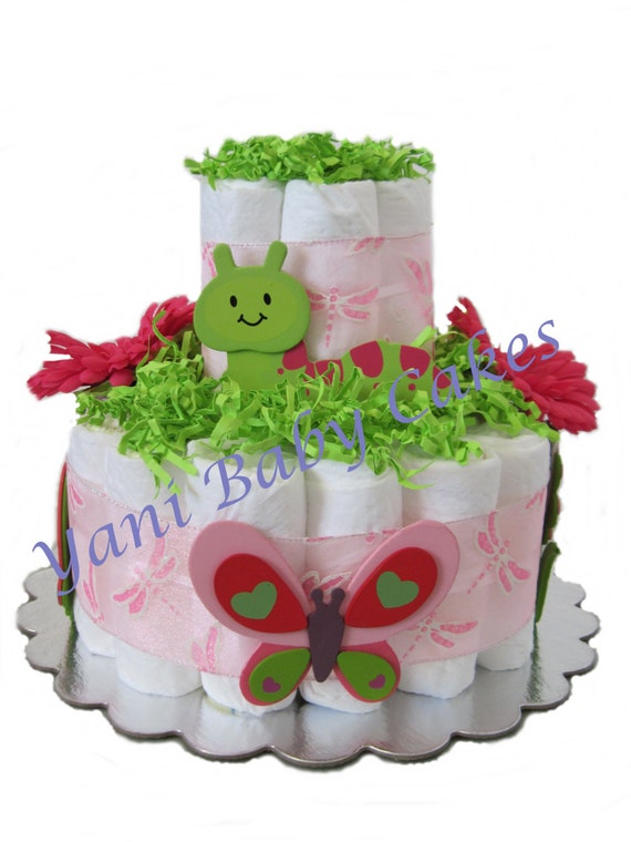 Cake Images With Name Sunny : Baby Diaper Cake Sunny Garden Diaper Cake 2 Tier/ Unique Baby