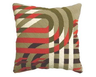 Futura Red, Art Deco style needlepoint / tapestry kit