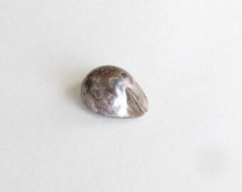 Natural Black Tahitian Pearl, Undrilled, 6.97 carats