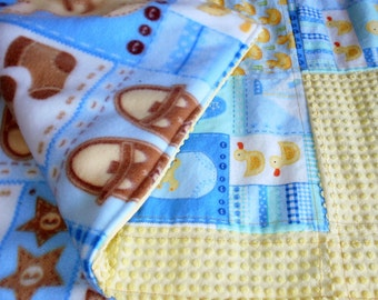 Baby Quilt, Baby Blanket, Baby Boy, Baby Shower Gift, Baby Quilt, Cottage Chic Quilt, Handmade Blanket, Small Crib Quilt