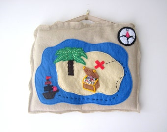 Pirate Treasure Map PDF Felt Sewing Pattern with Easy to follow Step by Step Photos