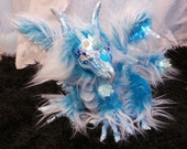 Frost Dragon LED Posable Art Doll