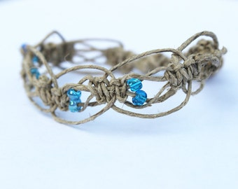 Blue halo hemp bracelet