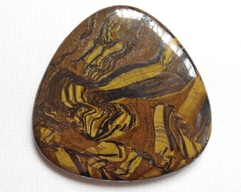 Price REDUCED - Tigereye Hematite 50x50 mm Tab Cabochon One Piece N108