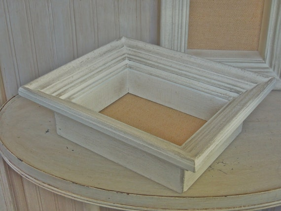 vintage shadowbox frame wood shadow box frame white chippy frame
