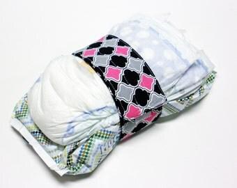 Glamour Girl Diaper Strap - Pink Glamour Girl Lattice