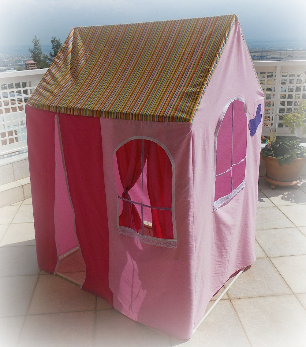 Fabric playhouse fits over pvc frame made to order for Pvc playhouse kit