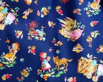 Fairy Tale Fabric Cosmo Textile CO LTD Navy Blue Half Yard