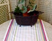Pretty 1950's Martex Kitchen Towel with Stripes in Primary Colors