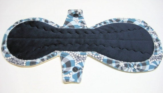 """13"""" Extra Long Overnight Menstrual Pad / Mama Cloth / Post Partum Pad - Medium to Heavy Flow - Choose Your Fabrics and Backing"""