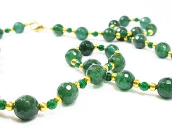 Green Faceted Necklace