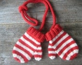 Toddler Mittens on Strings