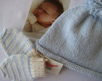Hat and Mittens for Baby Boy  BILLY
