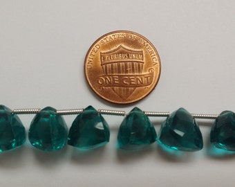 Teal Green Trillions Faceted