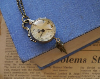 Antique Bronze Ball Style Unique Pocket Watch with Chain